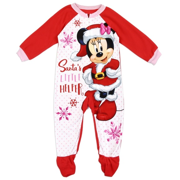 DISNEY MICKEY MOUSE CHRISTMAS PAJAMAS BLANKET SLEEPER SIZE 2T 3T 4T 5T NEW!